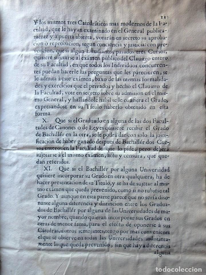 Militaria: (JX-191120)Real Cédula , Carlos III , 1770 , reimpresa en la Universidad de Cervera . - Foto 15 - 182493598