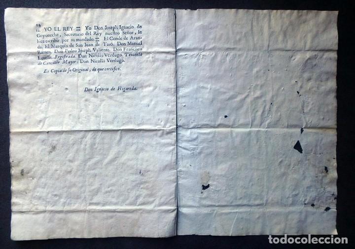 Militaria: (JX-191120)Real Cédula , Carlos III , 1770 , reimpresa en la Universidad de Cervera . - Foto 19 - 182493598