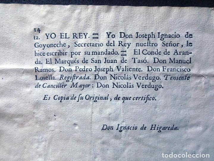 Militaria: (JX-191120)Real Cédula , Carlos III , 1770 , reimpresa en la Universidad de Cervera . - Foto 20 - 182493598