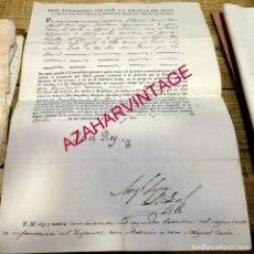 Militaria: 1822,NOMBRAMIENTO COMANDANTE INFANTERIA REGIMIENTO INFANTE DON ANTONIO, FIRMA FERNANDO VII. Lote 182568935