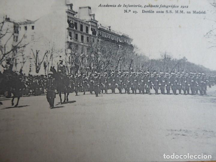 POSTAL ACADEMIA DE INFANTERÍA Nº 23. MADRID 1912 PELAEZ (Militar - Propaganda y Documentos)