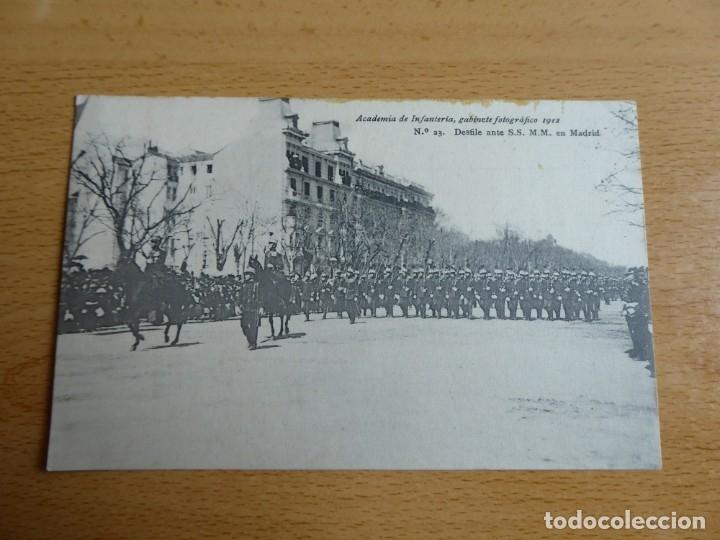 Militaria: Postal Academia de Infantería nº 23. Madrid 1912 Pelaez - Foto 2 - 182730111