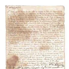 Militaria: EL REY CARLOS IV. NOMBRA CORONEL DEL REGIMIENTO DRAGONES DE ALMANSA. 1791. . Lote 182845272