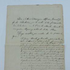Militaria: GUERRA DE FILIPINAS, VOLUNTARIOS MANILA, 1898, CERTIFICADO DE AFILACION AL SERVICIO DE VOLUNTARIOS E. Lote 182847210