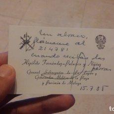 Militaria: LEGION ESPAÑOLA GENERAL HIPOLITO F DEZ. Lote 182901928