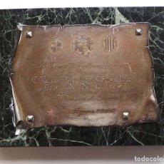 Militaria: PLACA GOBERNADOR CIVIL PROVINCIA DE GERONA.- RAMÓN MUÑOZ GONZÁLEZ Y BERNALDO DE QUIRÓS.. Lote 273940793