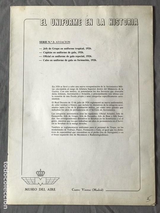 "Militaria: ANTIGUA SERIE DEL 1 al 7 ""EL UNIFORME EN LA HISTORIA"" - Foto 12 - 183554597"