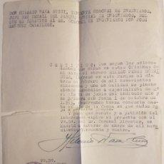Militaria: CERTIFICADO INGRESO EJERCITO OTORGADO TENIENTE CORONEL INGENIEROS MADRID 1954. Lote 183678702