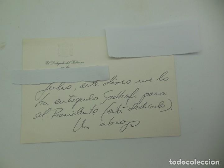 Militaria: Triple LP con el Libro Verde de Muamar Al Gadafi - Dedicado a Felipe Gonzalez - Foto 10 - 183732468