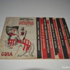 Militaria: GUIA 35 CONGRESO EUCARISTICO FRENTE DE JUVENTUDES MAYO 1952 MUY RARO FALANGE JONS EPOCA FRANCO. Lote 183762633