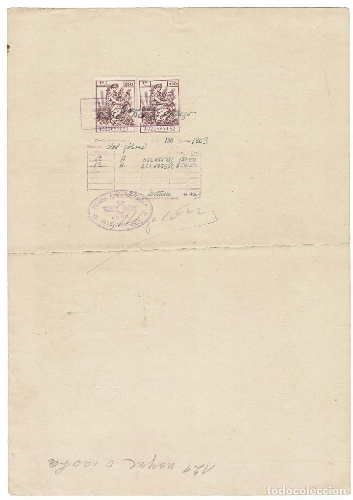 Militaria: AVIACIÓN.- CONCESIÓN EMPLEO TENIENTE 1963. - Foto 2 - 183776107