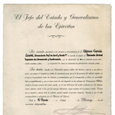 Militaria: CONCESIÓN NOMBRA TENIENTE CORONEL DE INGENIEROS DE ARMAMENTO Y CONSTRUCCIÓN 1950.. Lote 183777780