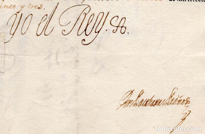 Militaria: CAPITÁN DE CABALLERÍA REG. EXTREMADURARA .- FIRMA FELIPE V 1723. - Foto 3 - 183794971