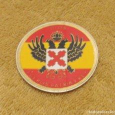 Militaria: ADHESIVO DE PAPEL, PEGATINA POLÍTICA DE REQUETE, CARLISTAS, CARLISMO, TRANSICIÓN, AÑOS 60//70.. Lote 183932606