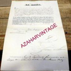 Militaria: NOMBRAMIENTO DE AYUDANTE FARMACEUTICO POR ISABEL II 1862, FIRMA JUAN DE LARA ,CAPITAN GENERAL FILIP. Lote 183981403