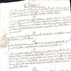 Militaria: MADRID. 1802. GUERRA DE LOS FRANCESES. LISTADO DE ARTICULOS SOBRE LA DISTRIBUCION DE TROPAS. . Lote 184002985