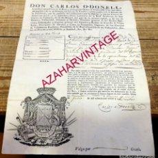 Militaria: VALLADOLID, 1824, PASAPORTE CONCEDIDO A TENIENTE CORONEL PARA VIAJAR A ZAMORA. Lote 184025205
