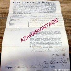 Militaria: 1824,PASAPORTE A UN TENIENTE CORONEL PARA IR A COSIO Y SANTIAGO DE LAS HERAS, CANTABRIA. Lote 184033845