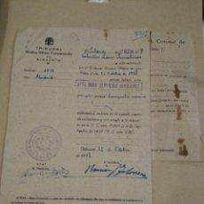Militaria: TRIBUNAL MEDICO MILITAR PERMANENTE DE ALBACETE. 1938 . CORONEL INFANTERÍA.. Lote 184034212