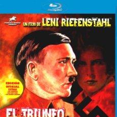 Militaria: EL TRIUNFO DE LA VOLUNTAD LENI RIEFENSTAHL BLU-RAY BD + CD BANDA SONORA EDICIÓN OFICIAL. Lote 184356563