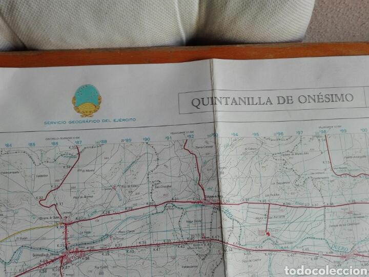 Militaria: MAPA MILITAR QUINTANILLA ONESIMO INSTITUTO GEOGRÁFICO EJERCITO - Foto 2 - 184447393