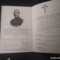 Militaria: ESQUELA REY ALFONSO XIII. 1941. Lote 185679962
