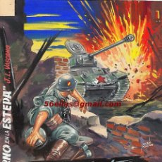 Militaria: ILUSTRACIÓN DE TOMÁS PORTO, ORIGINAL DE +FUEGO EN LA ESTEPA+, NOVELA SOBRE LA DIVISIÓN AZUL - CLC. Lote 185879700