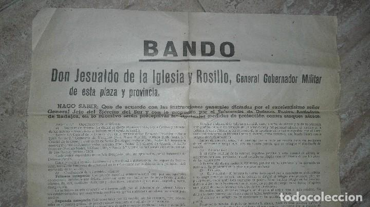 Militaria: BANDO GUERRA CIVIL BADAJOZ. DEFENSA PASIVA ANTIAEREA. - Foto 2 - 186142401