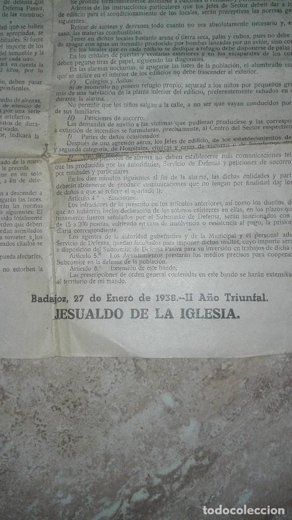 Militaria: BANDO GUERRA CIVIL BADAJOZ. DEFENSA PASIVA ANTIAEREA. - Foto 5 - 186142401