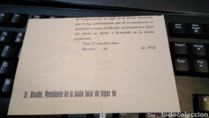 Militaria: vale para una comida , auxilio social , ayuntamiento de MONZON 1941 - pos guerra civil - Foto 2 - 187214988