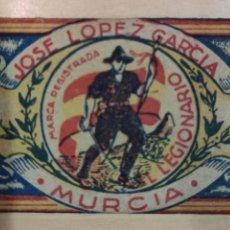 Militaria: EL LEGIONARIO, ANTIGUO SOBRE DE CONDIMENTO AMARILLO, LLENO DE AZAFRÁN . Lote 187318245