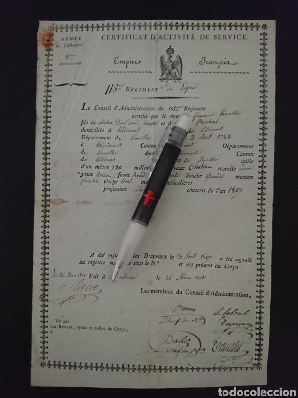 BARCELONA GUERRA DE LA INDEPENDENCIA - REGIMIENTO 115 INFANTERIA FRANCÉS (Militar - Propaganda y Documentos)