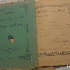 Militaria: REGLAMENTO SOCIEDAD BENEFICA SARGENTOS INFANTERIA MARINA.FERROL 1905.MANUEL MARCHANTE SANCHEZ.. Lote 187480838