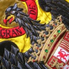 Militaria: ANTIGUA BANDERA BORDADA. AGUILA DE SAN JUAN. GUARDIA CIVIL. TOMELLOSO. 100% ORIGINAL. EPOCA FRANCO.. Lote 187492036