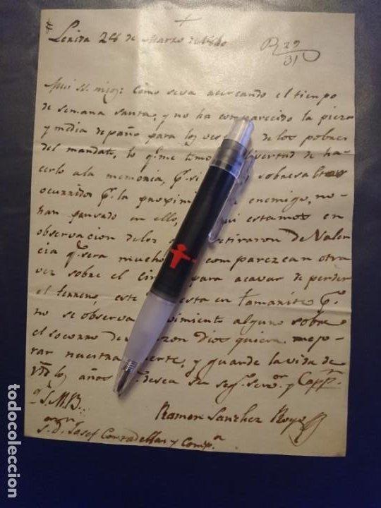 Militaria: ARCHIVO CORRESPONDENCIA CATALUÑA GUERRA DE LA INDEPENDENCIA - Foto 6 - 187521672