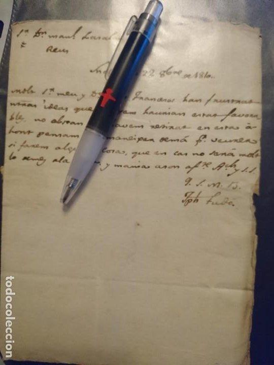 Militaria: ARCHIVO CORRESPONDENCIA CATALUÑA GUERRA DE LA INDEPENDENCIA - Foto 9 - 187521672