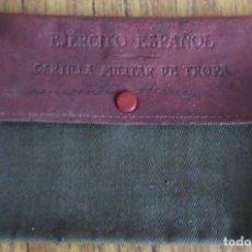 Militaria: FUNDA CARTILLA MILITAR DE TROPA - EJERCITO ESPAÑOL . Lote 187536872