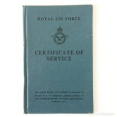 Militaria: ROYAL AIR FORCE - CERTIFICATE OF SERVICE - LONDON -1952. Lote 188709057