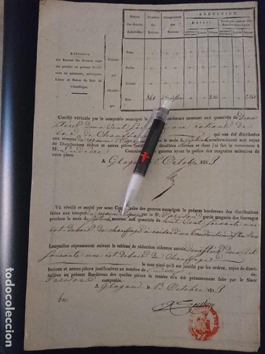 Militaria: REGIMIENTO JOSÉ NAPOLEÓN - DOCUMENTO Y BOTÓN - Foto 3 - 188728011