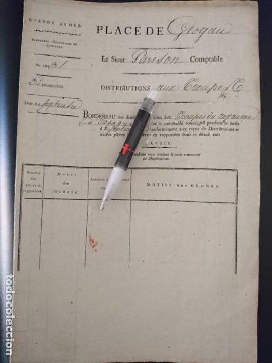 Militaria: REGIMIENTO JOSÉ NAPOLEÓN - DOCUMENTO Y BOTÓN - Foto 6 - 188728011