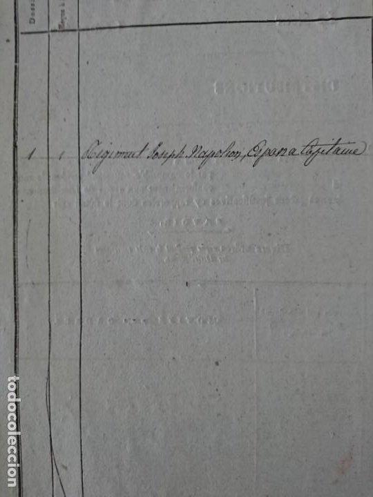 Militaria: REGIMIENTO JOSÉ NAPOLEÓN - DOCUMENTO Y BOTÓN - Foto 12 - 188728011