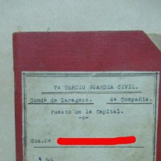 Militaria: CUARDIA CIVIL . GUERRA CIVIL LIBRETA DE HABERES ZARAGOZA AÑO 1937. 11X 16 CM. Lote 188751828