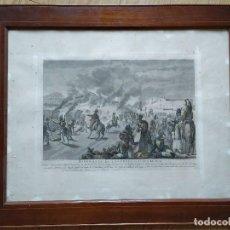 Militaria: GUERRA INDEPENDENCIA GRABADO . HORROROSA ESCENA CERCA DE CALELLA 1808. COLOREADO DE EPOCA BARCELONA. Lote 188832592