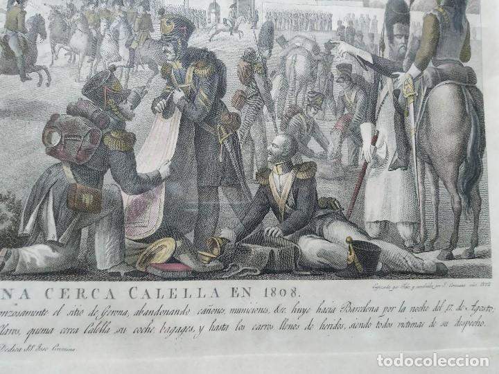 Militaria: GUERRA INDEPENDENCIA GRABADO . HORROROSA ESCENA CERCA DE CALELLA 1808. COLOREADO DE EPOCA BARCELONA - Foto 3 - 188832592