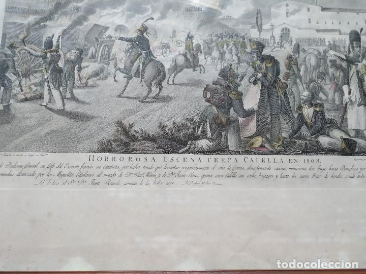 Militaria: GUERRA INDEPENDENCIA GRABADO . HORROROSA ESCENA CERCA DE CALELLA 1808. COLOREADO DE EPOCA BARCELONA - Foto 4 - 188832592