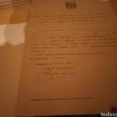 Militaria: CERTIFICADO MILITAR DE HABER CUMPLIDO LA MILI. VALENCIA. 1950.. Lote 189644233