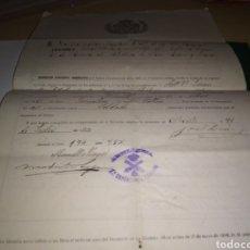 Militaria: DOCUMENTO LICENCIA DE LA MILI. ALBACETE. 1917. Lote 189645156