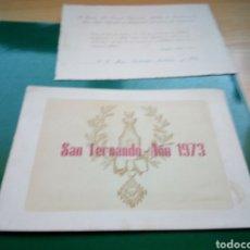Militaria: ANTIGUA INVITACIÓN A MISA MILITAR. CÓRDOBA. 1973. Lote 189683626