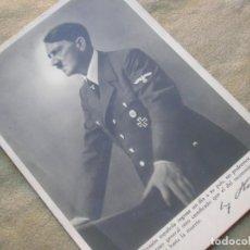 Militaria: POSTAL ORIGINAL PARA DIVISIONARIO CON DEDICATORIA DEL FÜHRER ADOLF HITLER. DIVISION AZUL.. Lote 189925107