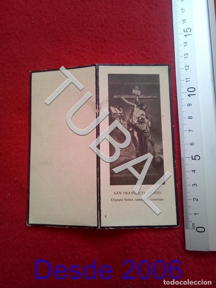 TUBAL 1932 RECORDATORIO TENIENTE CORONEL DE INTENDENCIA ESCLAVAS ZARAGOZA 25 GRS B32 (Militar - Propaganda y Documentos)